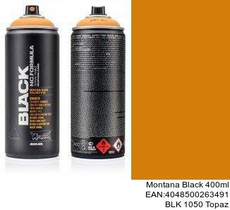 montana black 400ml  BLK 1050 Topaz Pintura Spray para Coche