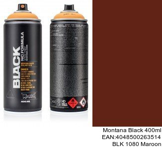 montana black 400ml  BLK 1080 Maroon pintura spray para coches madrid