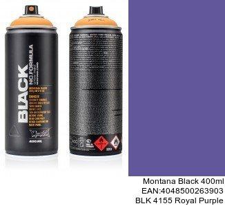 montana black 400ml  BLK 4155 Royal Purple pintura spray para interior coche