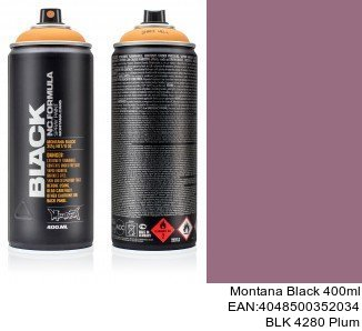 montana black 400ml  BLK 4280 Plum spray para pintar coche