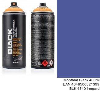 montana black 400ml  BLK 4340 Irmgard spray para pintar llantas coche