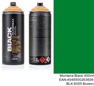montana black 400ml  BLK 6055 Boston spray de pintura metalizada para coches
