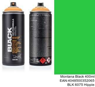 montana black 400ml  BLK 6075 Hippie pintura para coches en spray tenerife