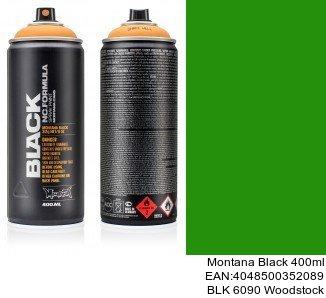 montana black 400ml  BLK 6090 Woodstock montana cans black spray tienda online