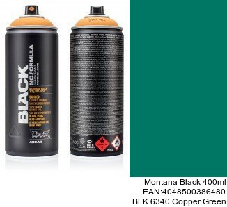 montana black 400ml  BLK 6340 Copper Green pintura de spray para coches