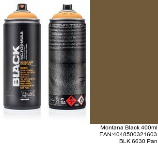 montana black 400ml  BLK 6630 Pan montana cans barniz brillante black spray