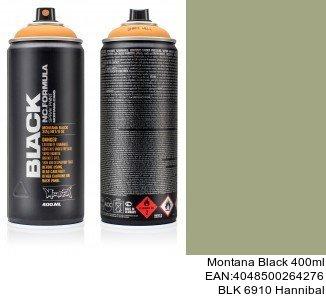 montana black 400ml  BLK 6910 Hannibal montana cans black spray espana