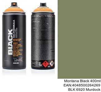 montana black 400ml  BLK 6920 Murdock montana cans aerosol spray