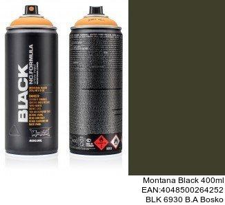 montana black 400ml  BLK 6930 B.A Bosko montana cans tienda online spray