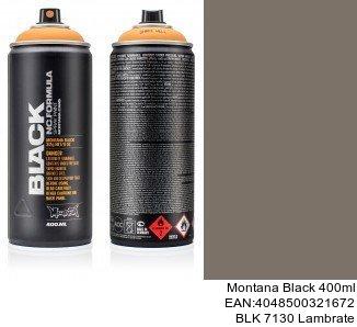 montana black 400ml  BLK 7130 Lambrate montana cans black spray anden