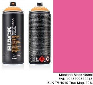 montana black 400ml  BLK TR 4010 True Mag. 50pro spray espana montana cans