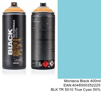 montana black 400ml  BLK TR 5010 True Cyan 50pro montana cans shop spray