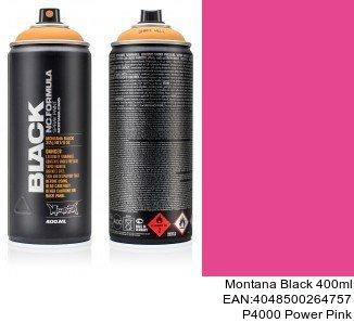 montana black 400ml  P4000 Power Pink españa spray montana cans