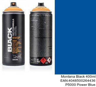 montana black 400ml  P5000 Power Blue montana cans black spray barniz mate