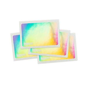 Pegatinas, adhesivos efecto holograma para tags de Montana Cans.
