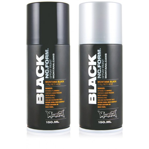 barcelona montana black graffiti spray 150