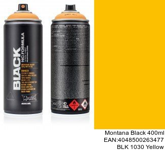 montana black 400ml  BLK 1030 Yellow spray para coches barcelona