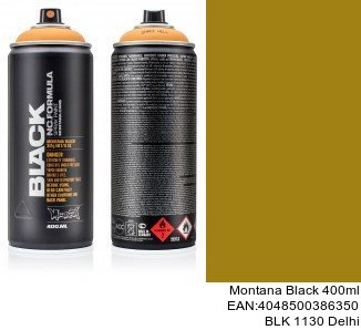 montana black 400ml  BLK 1130 Delhi spray laca para coches