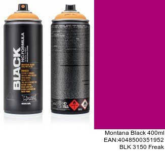montana black 400ml  BLK 3150 Freak spray para pintar plasticos de coche