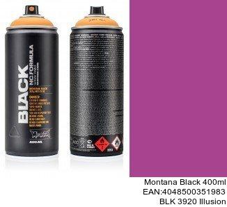montana black 400ml  BLK 3920 Illusion pintura en spray para coche en barcelona