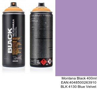 montana black 400ml  BLK 4130 Blue Velvet spray gris plata para coche