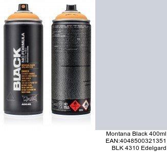 montana black 400ml  BLK 4310 Edelgard spray para pintar plastico coche