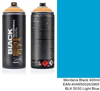 montana black 400ml  BLK 5030 Light Blue pintura en spray para coches en madrid