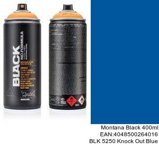 montana black 400ml  BLK 5250 Knock Out Blue pinturas en spray para coches en tenerife