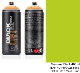 montana black 400ml  BLK 6015 Wild Lime donde comprar pintura spray para coches en madrid