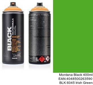 montana black 400ml  BLK 6045 Irish Green spray de pintura para coches