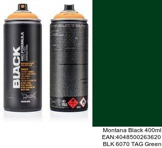 montana black 400ml  BLK 6070 TAG Green pintura en spray para coches online