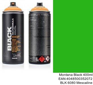 montana black 400ml  BLK 6080 Mescaline pintura en spray para coches valencia