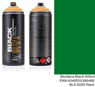 montana black 400ml  BLK 6095 Plant montana cans black spray barcelona