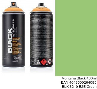 montana black 400ml  BLK 6210 E2E Green spray montana cans barniz brillante
