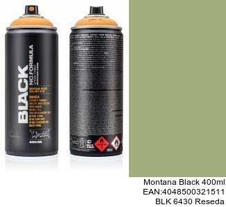 montana black 400ml  BLK 6430 Reseda pintura en spray para coches en barcelona