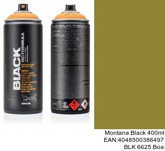 montana black 400ml  BLK 6625 Boa montana cans spray barniz mate