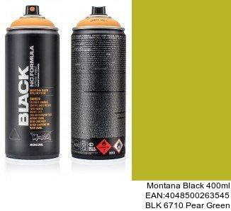 montana black 400ml  BLK 6710 Pear Green black spray graffiti montana cans
