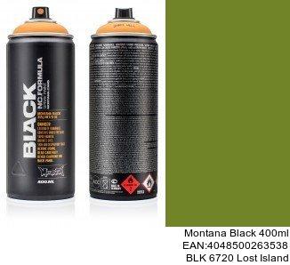 montana black 400ml  BLK 6720 Lost Island montana cans aerosol black spray