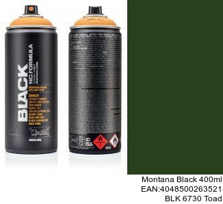 montana black 400ml  BLK 6730 Toad spray aerosol montana cans