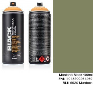montana black 400ml  BLK 6920 Murdock montana cans aerosol spray