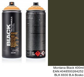montana black 400ml  BLK 6930 B.A Bosko black spray españa montana cans