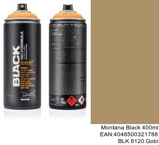 montana black 400ml  BLK 8120 Gobi montana cans spray anden