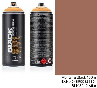 montana black 400ml  BLK 8210 After montana cans black spray aerosol