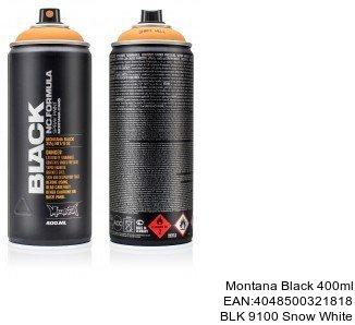 montana black 400ml  BLK 9100 Snow White montana cans black spray graffiti
