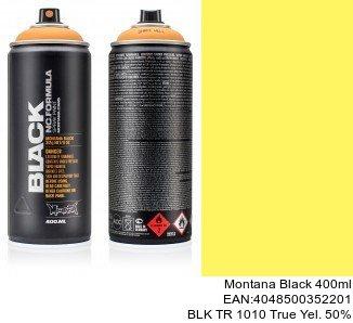 montana black 400ml  BLK TR 1010 True Yel. 50pro montana cans spray shop