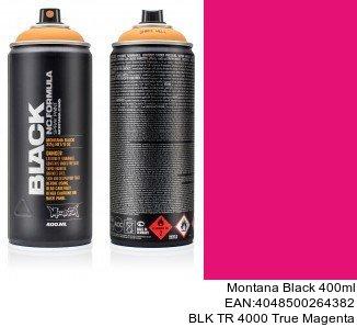 montana black 400ml  BLK TR 4000 True Magenta montana cans spray barcelona