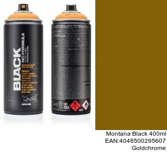montana black 400ml  Goldchrome montana cans barniz brillante spray